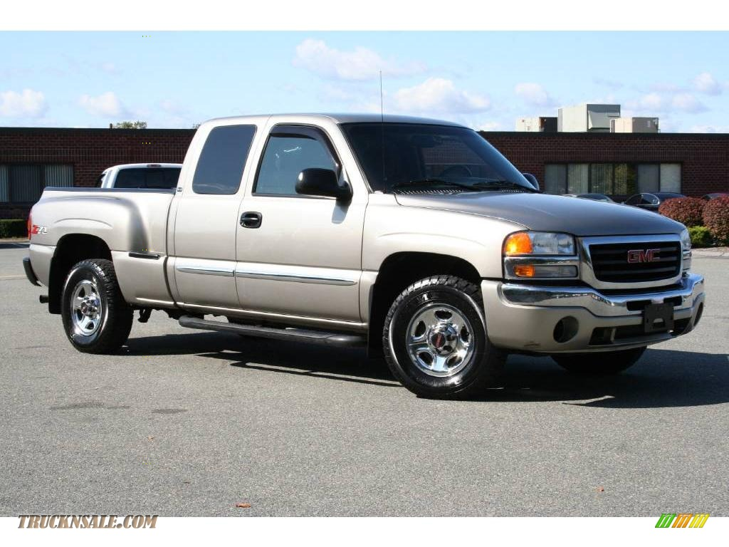 2003 gmc sierra 1500 sle extended cab 4x4 in pewter metallic 337196 truck n 39 sale. Black Bedroom Furniture Sets. Home Design Ideas