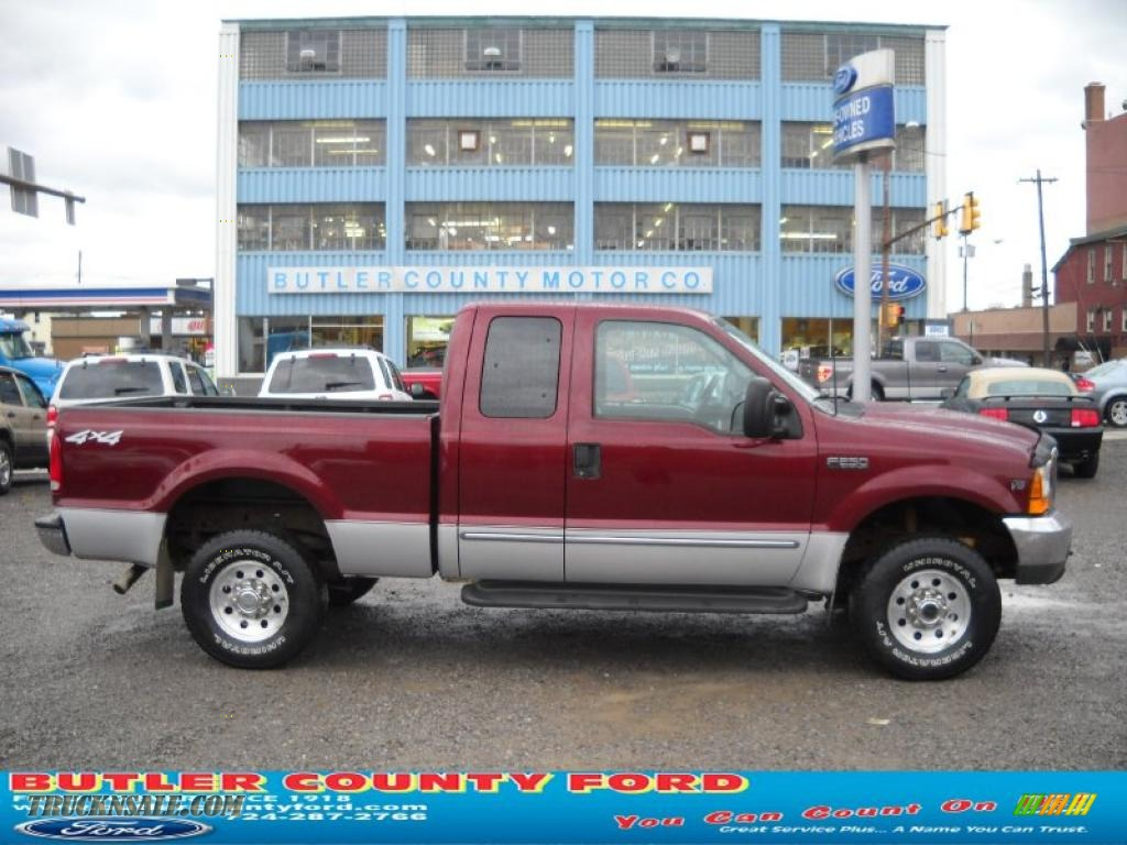 2000 f250 super duty xlt extended cab 4x4 dark toreador red metallic medium graphite