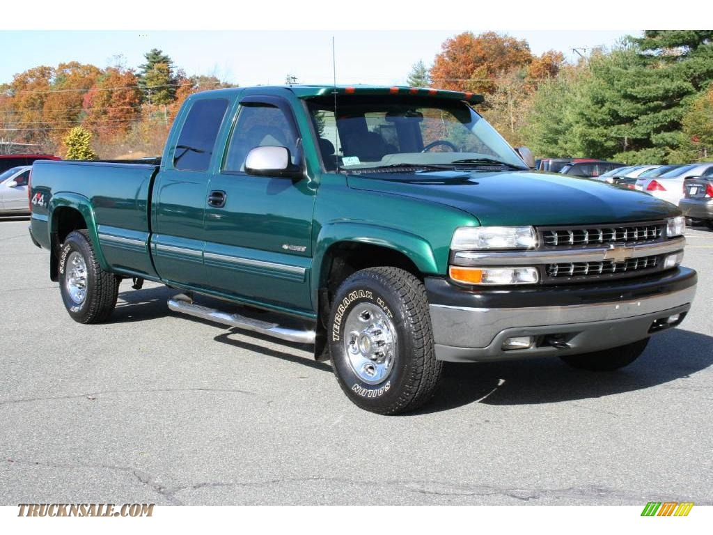 2000 chevrolet silverado 2500 lt extended cab 4x4 in meadow green metallic 191633 truck n 39 sale. Black Bedroom Furniture Sets. Home Design Ideas