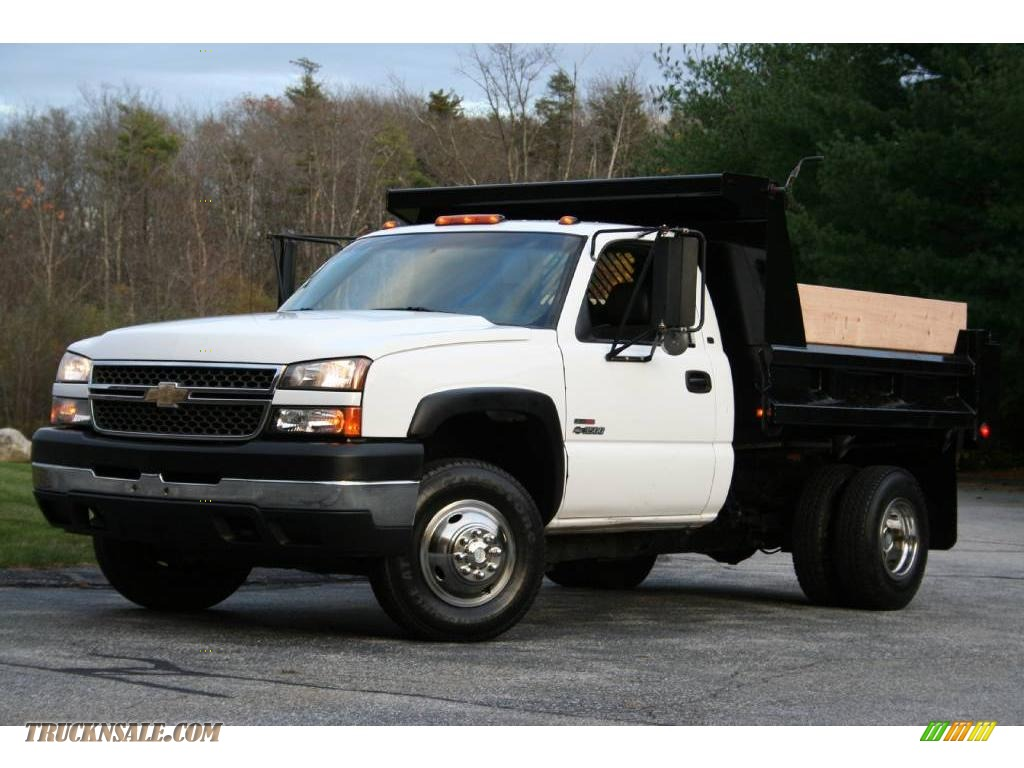 2005 chevrolet silverado 3500 regular cab 4x4 chassis dump truck in summit white 268396. Black Bedroom Furniture Sets. Home Design Ideas