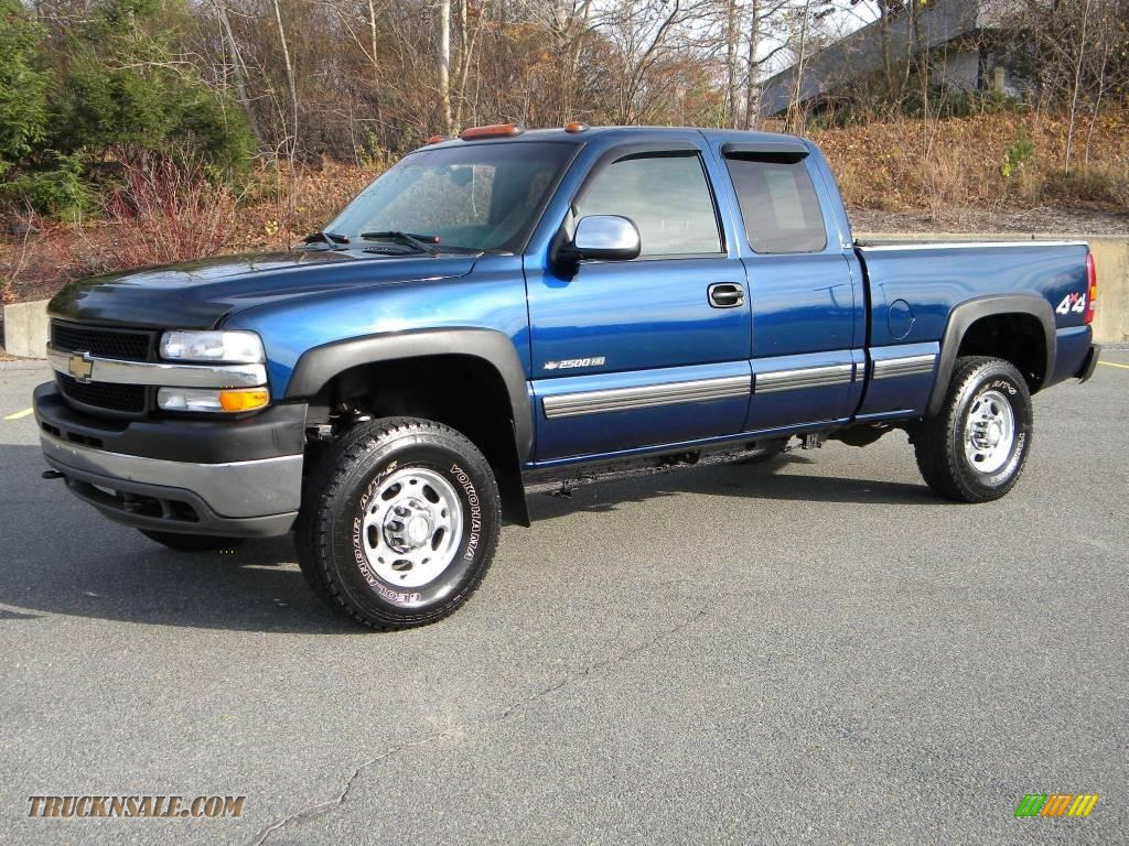 2002 chevrolet silverado 2500 ls extended cab 4x4 in indigo blue metallic photo 2 277707. Black Bedroom Furniture Sets. Home Design Ideas