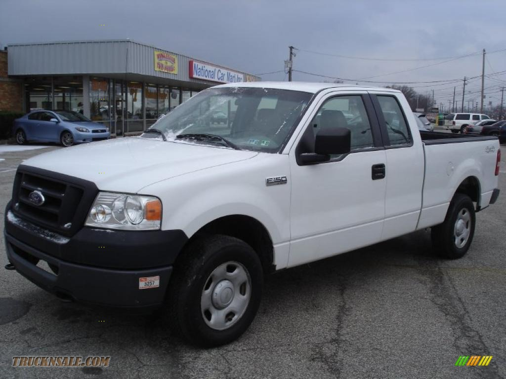 2006 Ford F150 Xl Supercab 4x4 In Oxford White Photo 2