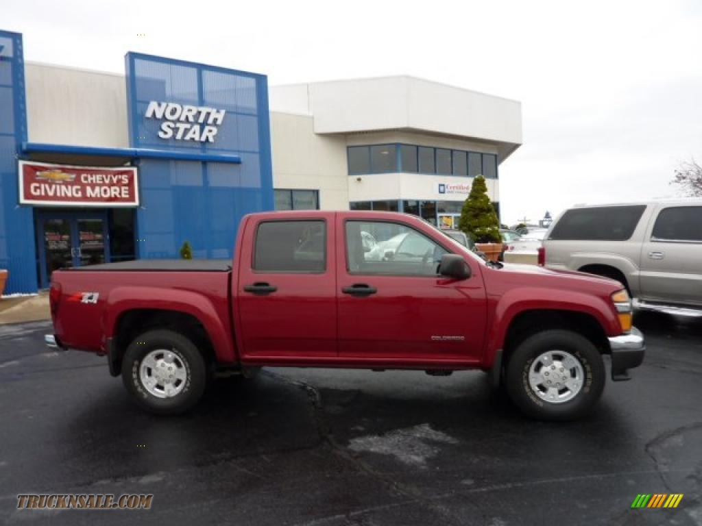 2005 colorado z71 crew cab 4x4 dark cherry red metallic medium dark pewter photo