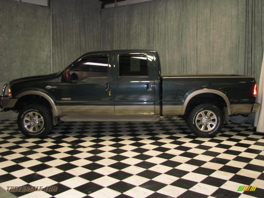 ford  super duty king ranch crew cab   medium wedgewood blue metallic