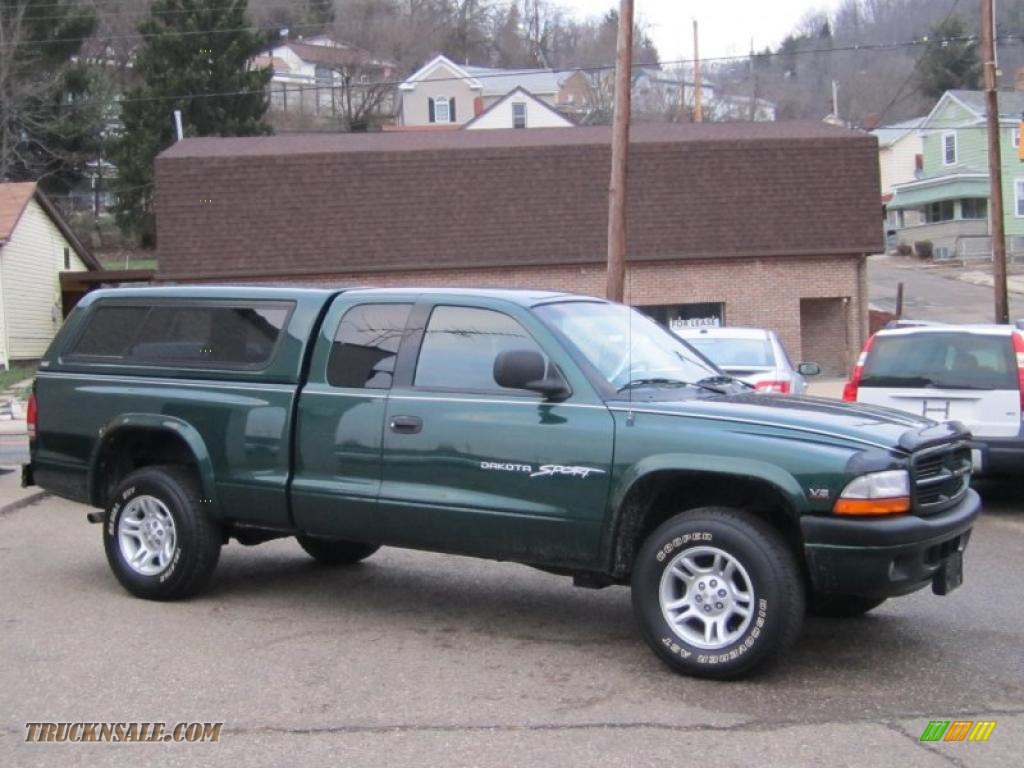 2000 dodge dakota sport extended cab 4x4 in forest green pearl photo 2 796751 truck n 39 sale. Black Bedroom Furniture Sets. Home Design Ideas