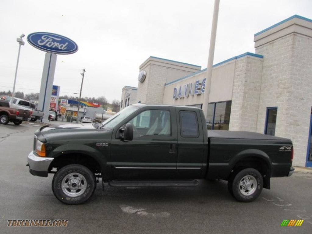 2000 F250 Super Duty Lariat Extended Cab 4x4 - Woodland Green Metallic