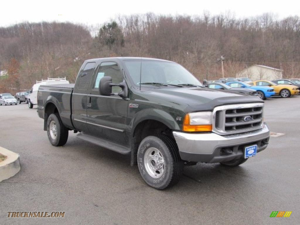 2000 f250 super duty lariat extended cab 4x4 woodland green metallic medium parchment photo