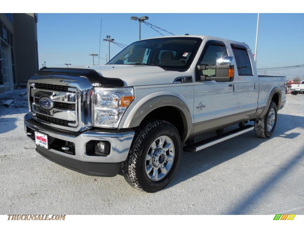 2011 F250 Super Duty Lariat Crew Cab 4x4 - White Platinum Metallic Tri