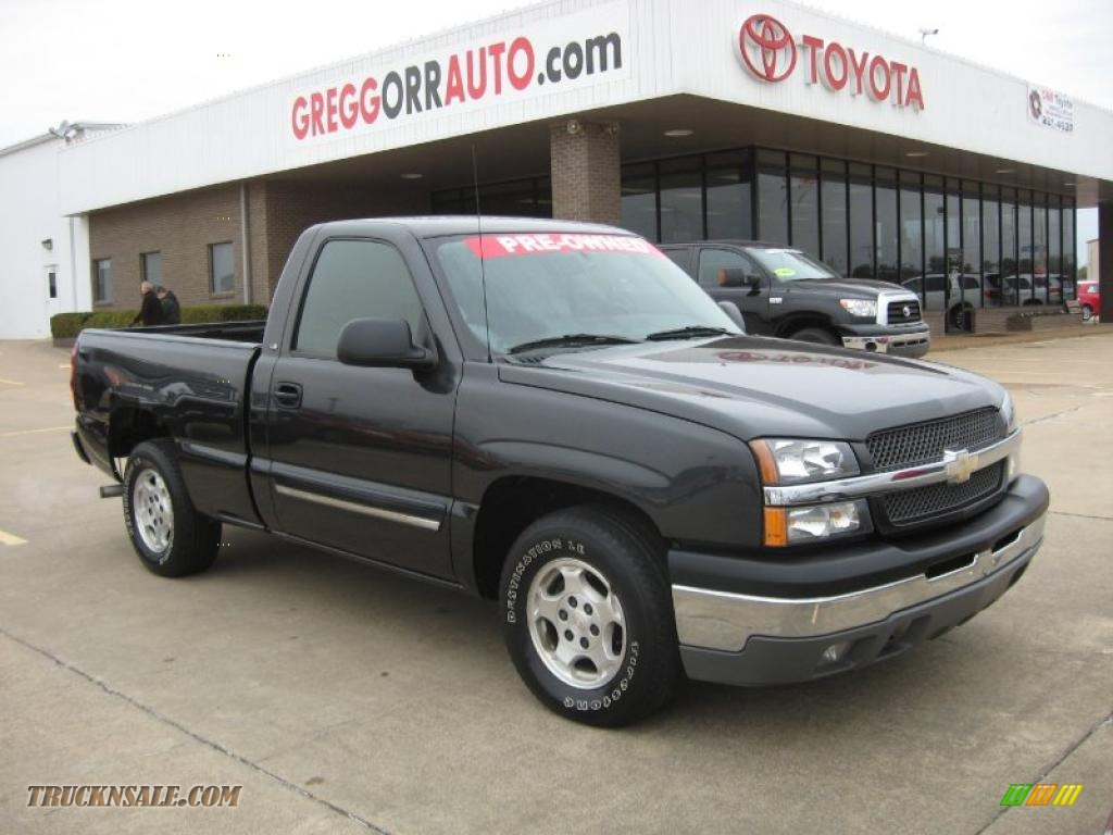 2004 chevrolet silverado 1500 ls regular cab in dark gray metallic. Cars Review. Best American Auto & Cars Review