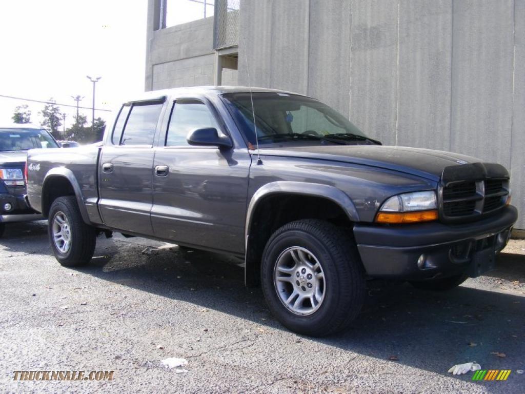 2003 Dodge Dakota Sport Quad Cab 4x4 In Graphite Metallic