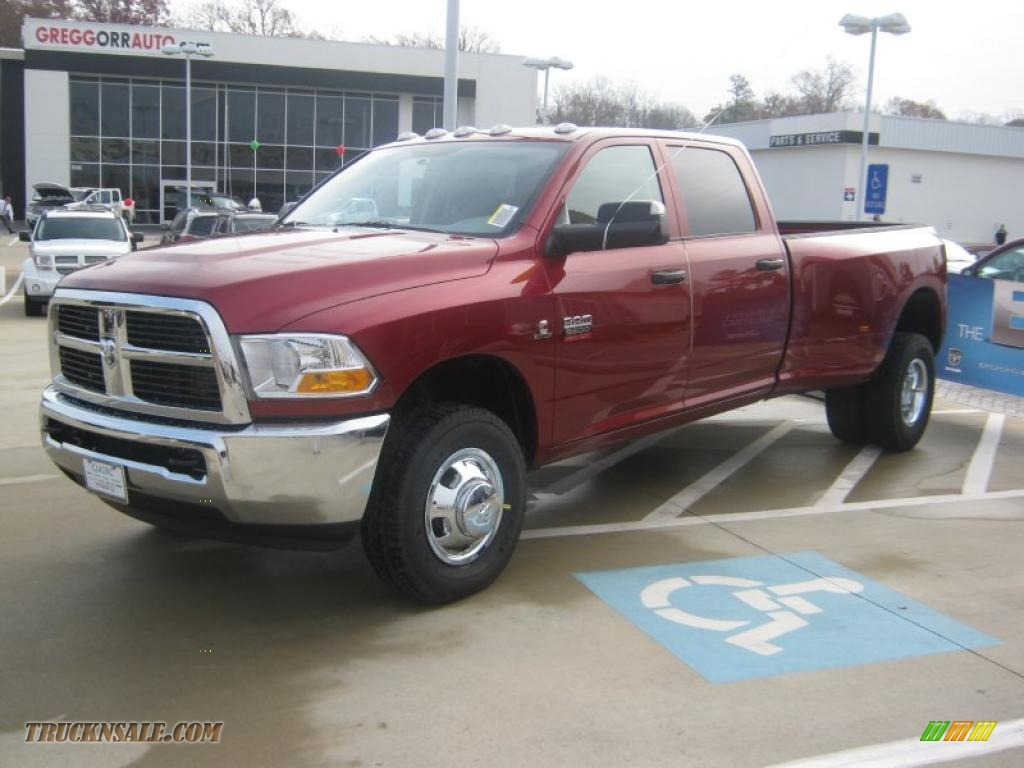 2011 dodge ram 3500 hd st crew cab 4x4 dually in deep cherry red crystal pearl 558222 truck. Black Bedroom Furniture Sets. Home Design Ideas