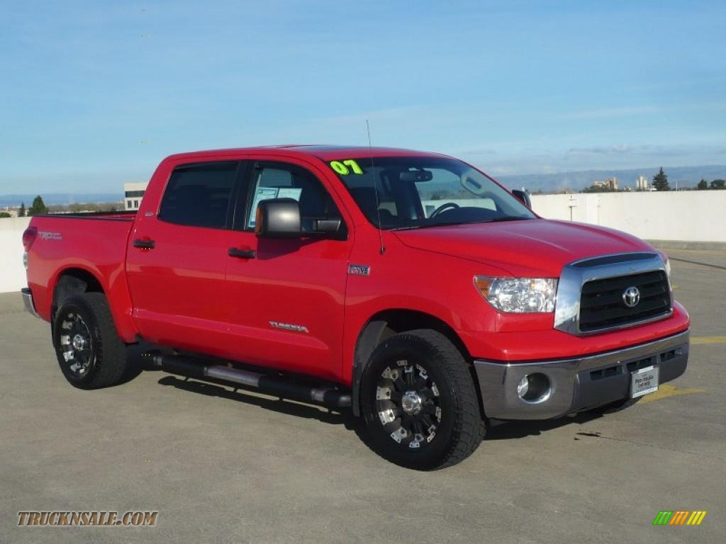 2007 toyota tundra sr5 trd crewmax 4x4 in radiant red 030939 truck n 39 sale. Black Bedroom Furniture Sets. Home Design Ideas