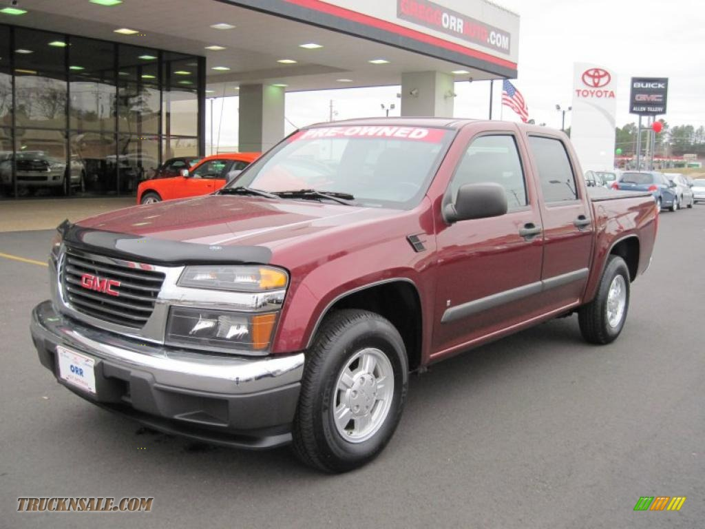2007 gmc canyon sle crew cab in sonoma red metallic. Black Bedroom Furniture Sets. Home Design Ideas