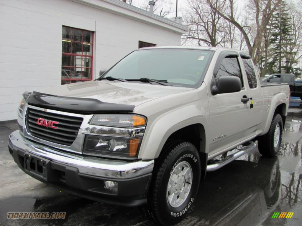 2005 gmc canyon sl extended cab 4x4 in silver birch metallic 213518 truck n 39 sale. Black Bedroom Furniture Sets. Home Design Ideas