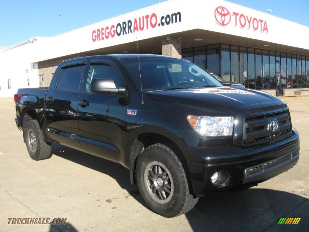 2010 toyota tundra trd rock warrior crewmax 4x4 in black 126885 truck n 39 sale. Black Bedroom Furniture Sets. Home Design Ideas