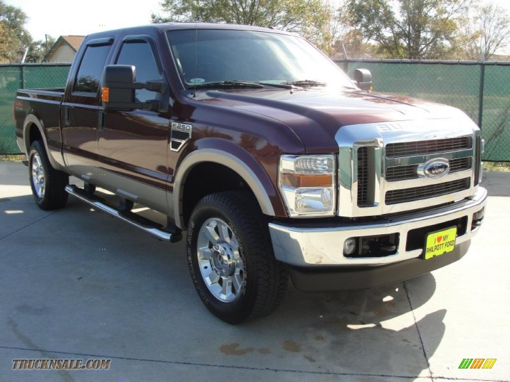 2009 ford f250 super duty lariat crew cab 4x4 in royal red metallic a85273 truck n 39 sale. Black Bedroom Furniture Sets. Home Design Ideas
