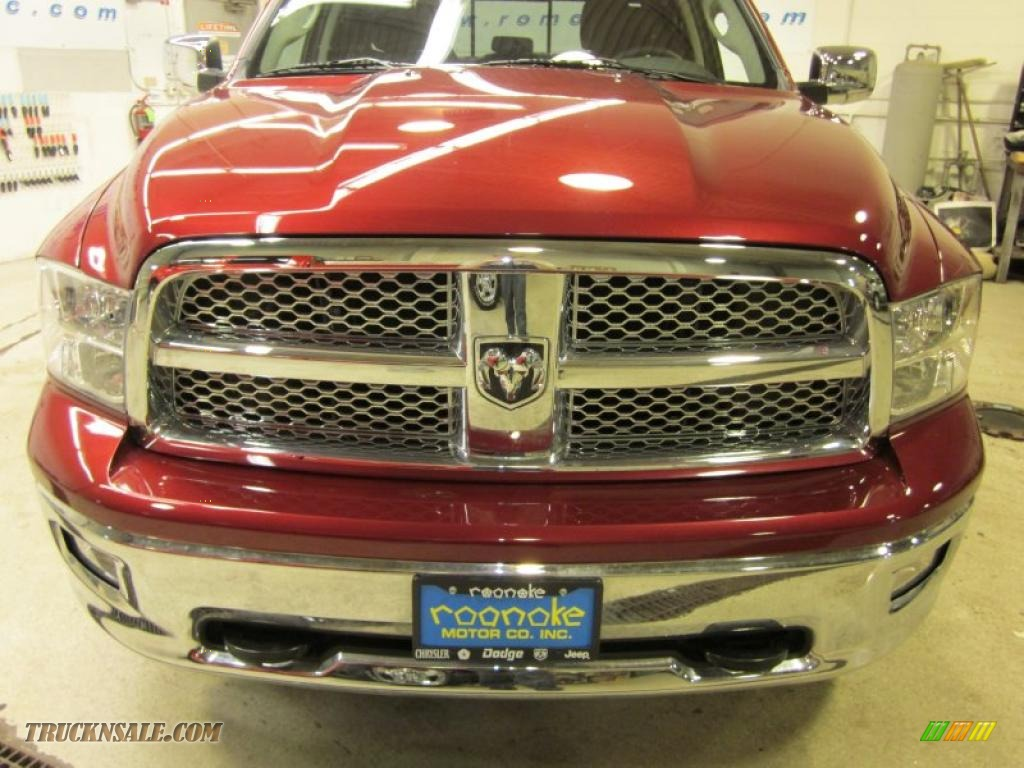 2011 Ram 1500 Laramie Quad Cab 4x4 - Deep Cherry Red Crystal Pearl / Dark Slate Gray photo #2