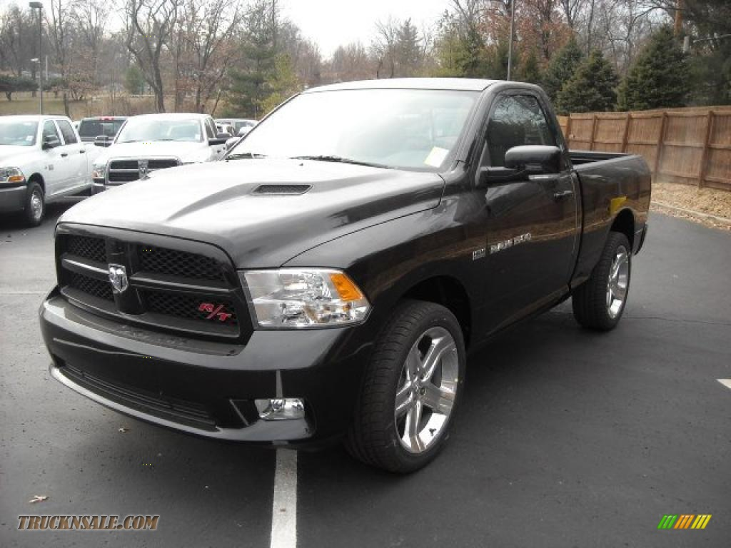 2011 Ram 1500 Sport R/T Regular Cab - Brilliant Black Crystal Pearl / Dark Slate Gray photo #1