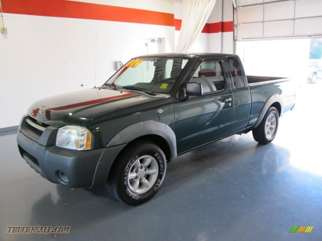 2001 nissan frontier xe king cab in alpine green metallic 316939 truck n 39 sale. Black Bedroom Furniture Sets. Home Design Ideas
