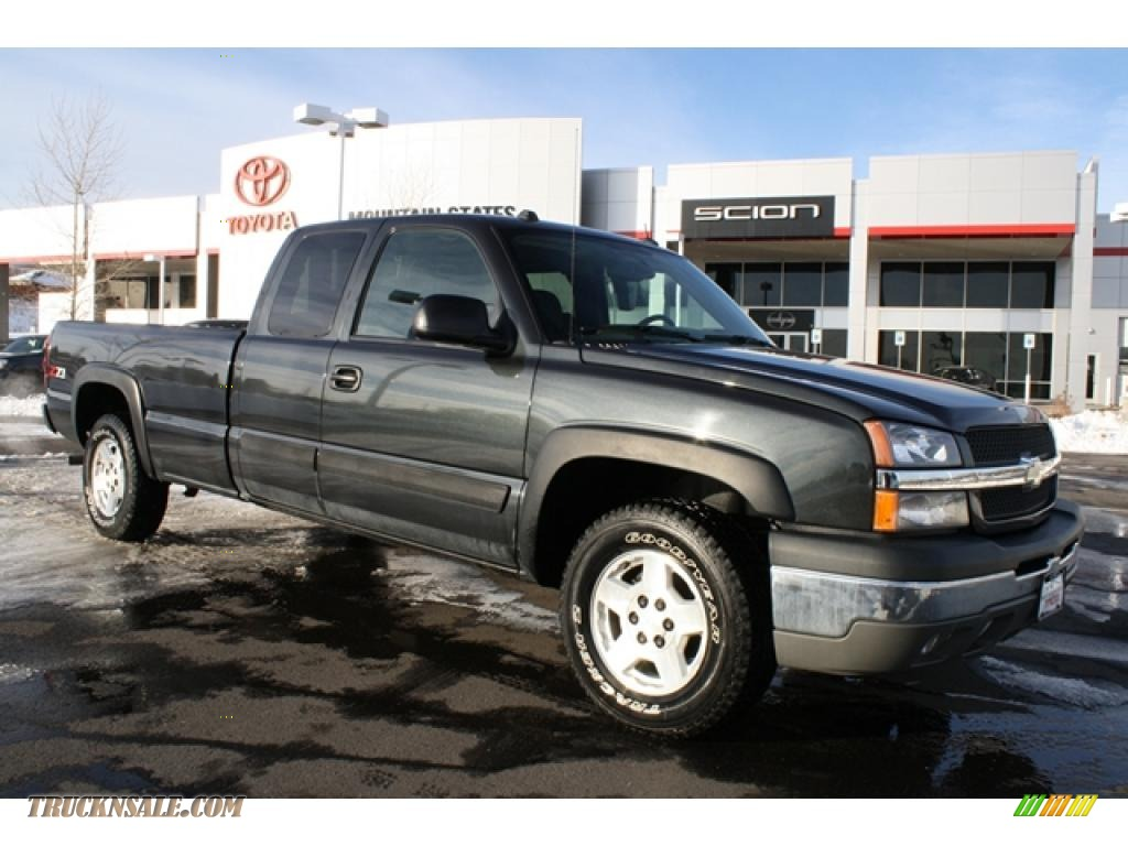 2004 chevrolet silverado 1500 z71 extended cab 4x4 in dark gray metallic 247065 truck n 39 sale