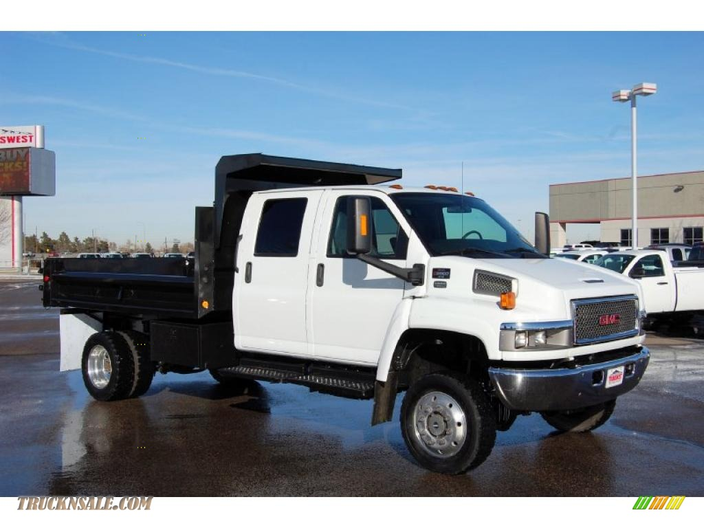 summit white pewter gmc c series topkick c5500 crew cab 4x4 dump truck.  wiring diagram 2007 c6500 ...
