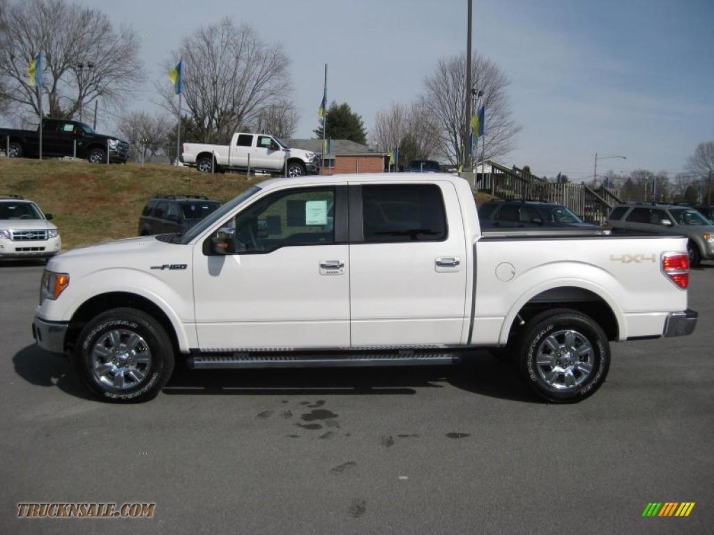 2011 ford f150 lariat supercrew 4x4 in white platinum metallic tri coat a25514 truck n 39 sale. Black Bedroom Furniture Sets. Home Design Ideas
