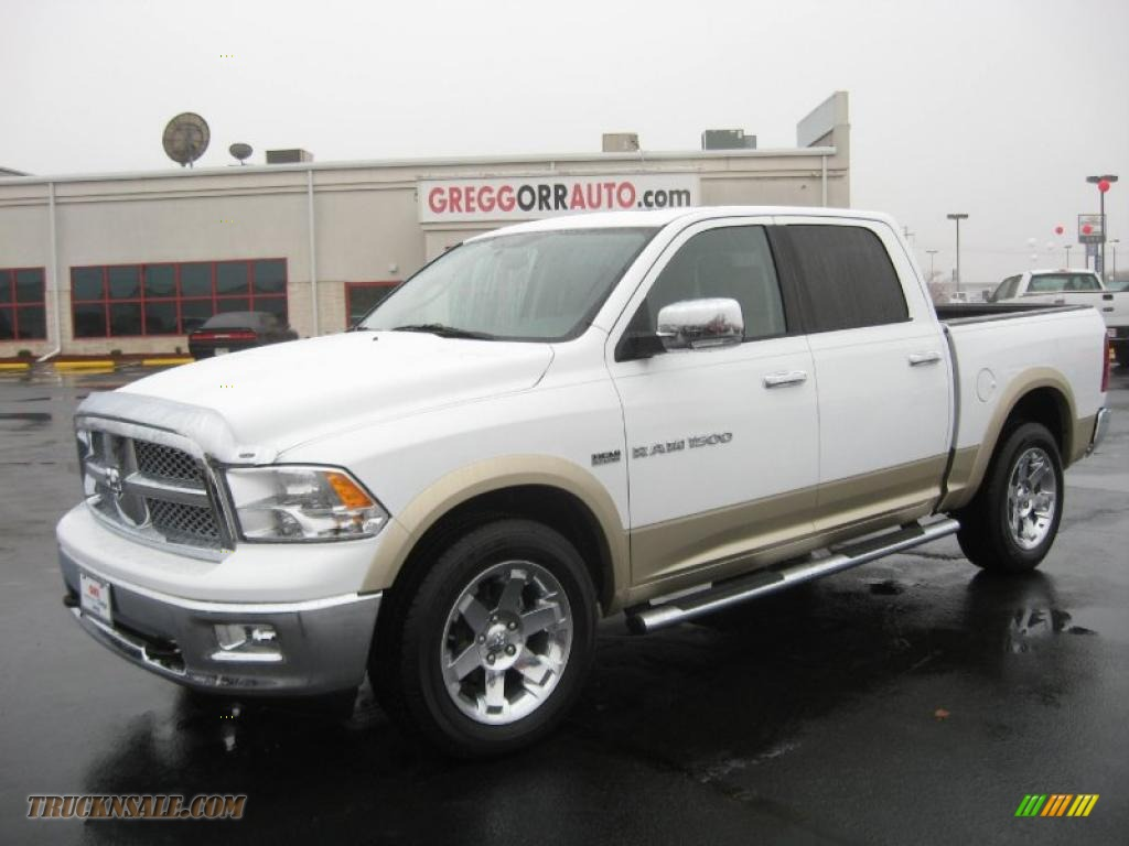 2011 dodge ram 1500 laramie crew cab 4x4 in white gold for Steve white motors inc