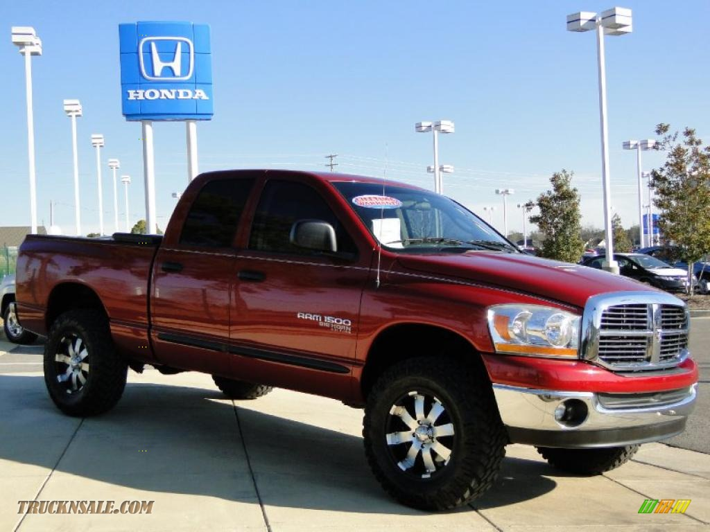 2006 dodge ram 1500 big horn edition quad cab 4x4 in inferno red crystal pearl photo 3 226407. Black Bedroom Furniture Sets. Home Design Ideas