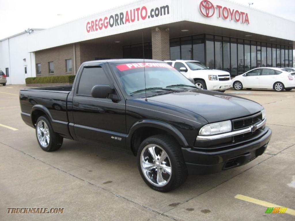2002 chevrolet s10 regular cab in onyx black 164484 truck n 39 sale. Black Bedroom Furniture Sets. Home Design Ideas