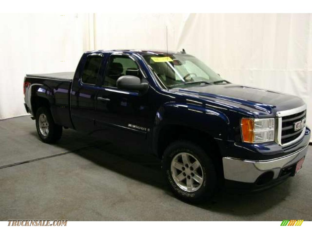 2008 gmc sierra 1500 slt extended cab 4x4 in midnight blue. Black Bedroom Furniture Sets. Home Design Ideas