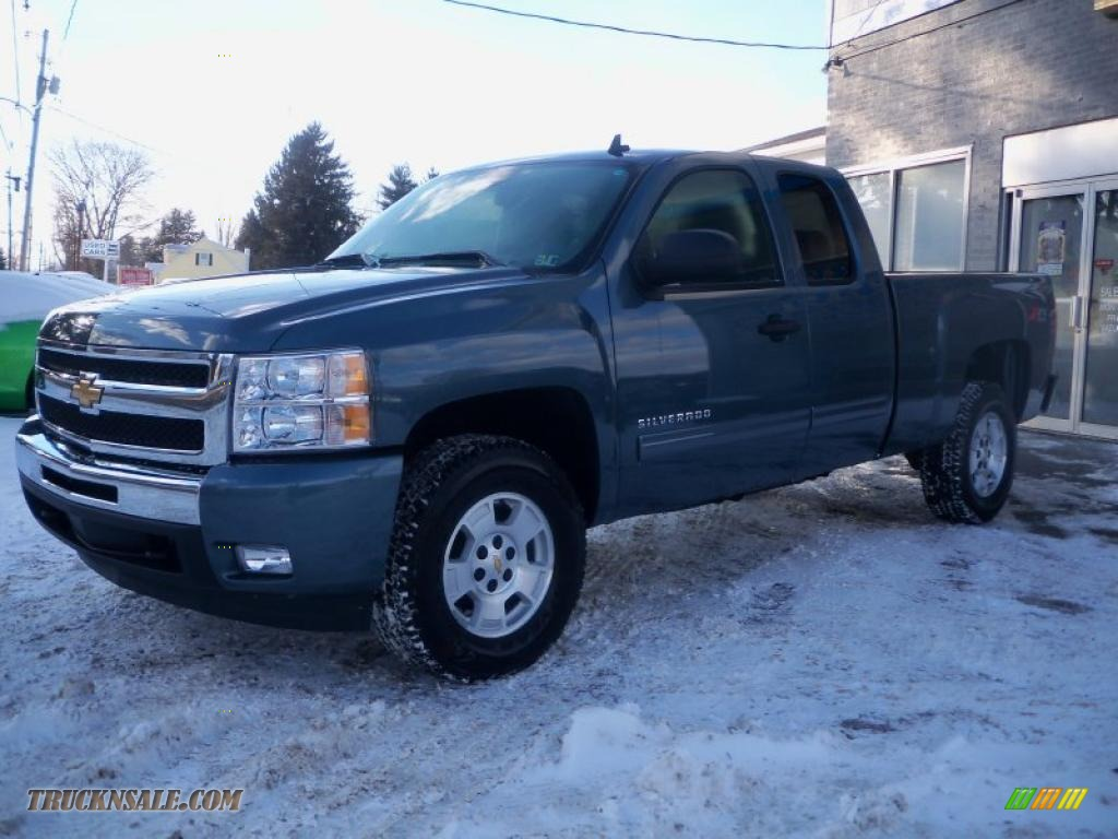 2011 chevrolet silverado 1500 lt extended cab 4x4 in blue granite metallic 251776 truck n 39 sale. Black Bedroom Furniture Sets. Home Design Ideas