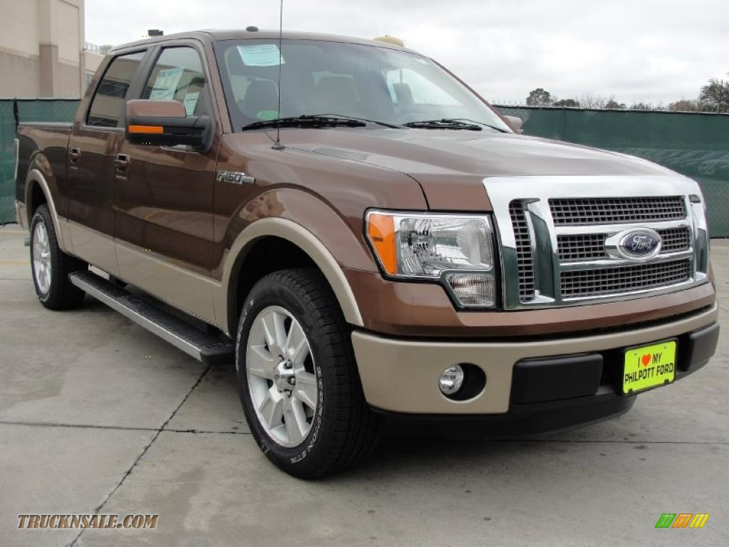 Golden Bronze Metallic / Pale Adobe Ford F150 Lariat SuperCrew