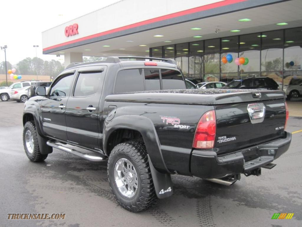 2006 Toyota Tacoma V6 Trd Sport Double Cab 4x4 In Black