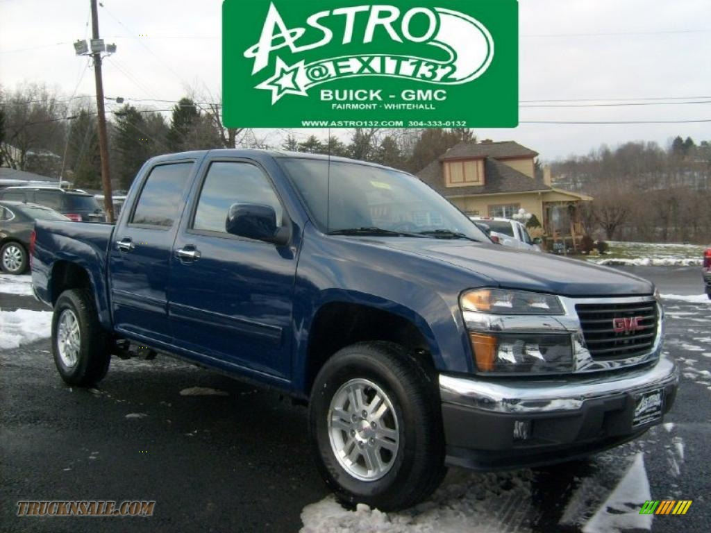 2010 gmc canyon sle crew cab 4x4 in navy blue 126911 truck n 39 sale. Black Bedroom Furniture Sets. Home Design Ideas