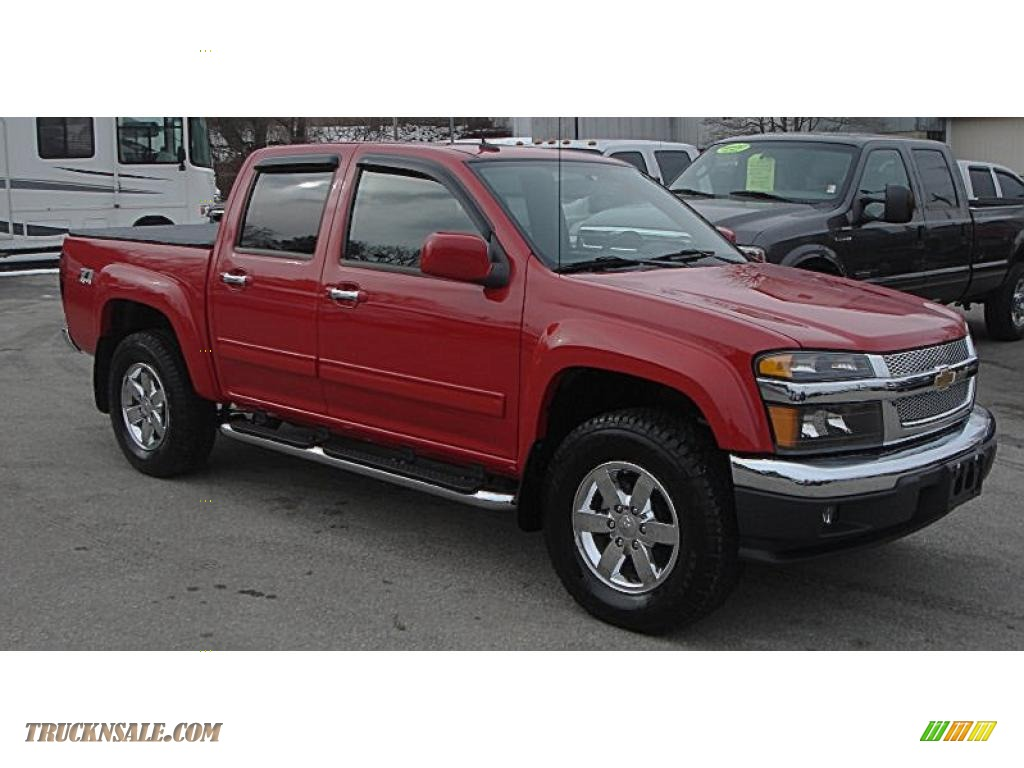 2010 chevrolet colorado lt crew cab 4x4 in victory red 104547 truck n 39 sale. Black Bedroom Furniture Sets. Home Design Ideas