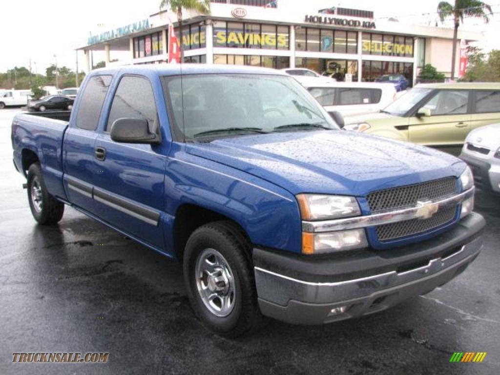 2004 Chevrolet Silverado 1500 LS Extended Cab in Arrival Blue Metallic - 276248 | Truck N' Sale