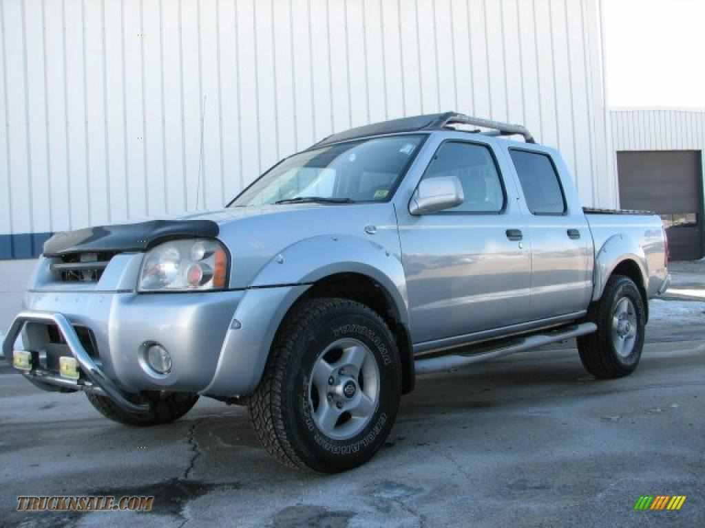 2001 nissan frontier xe v6 crew cab 4x4 in silver ice metallic 346489 truck n 39 sale. Black Bedroom Furniture Sets. Home Design Ideas