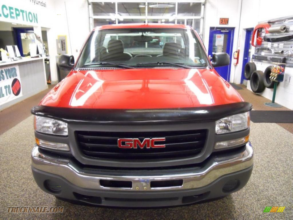2005 gmc sierra 1500 work truck regular cab 4x4 in fire red 222933 truck n 39 sale. Black Bedroom Furniture Sets. Home Design Ideas