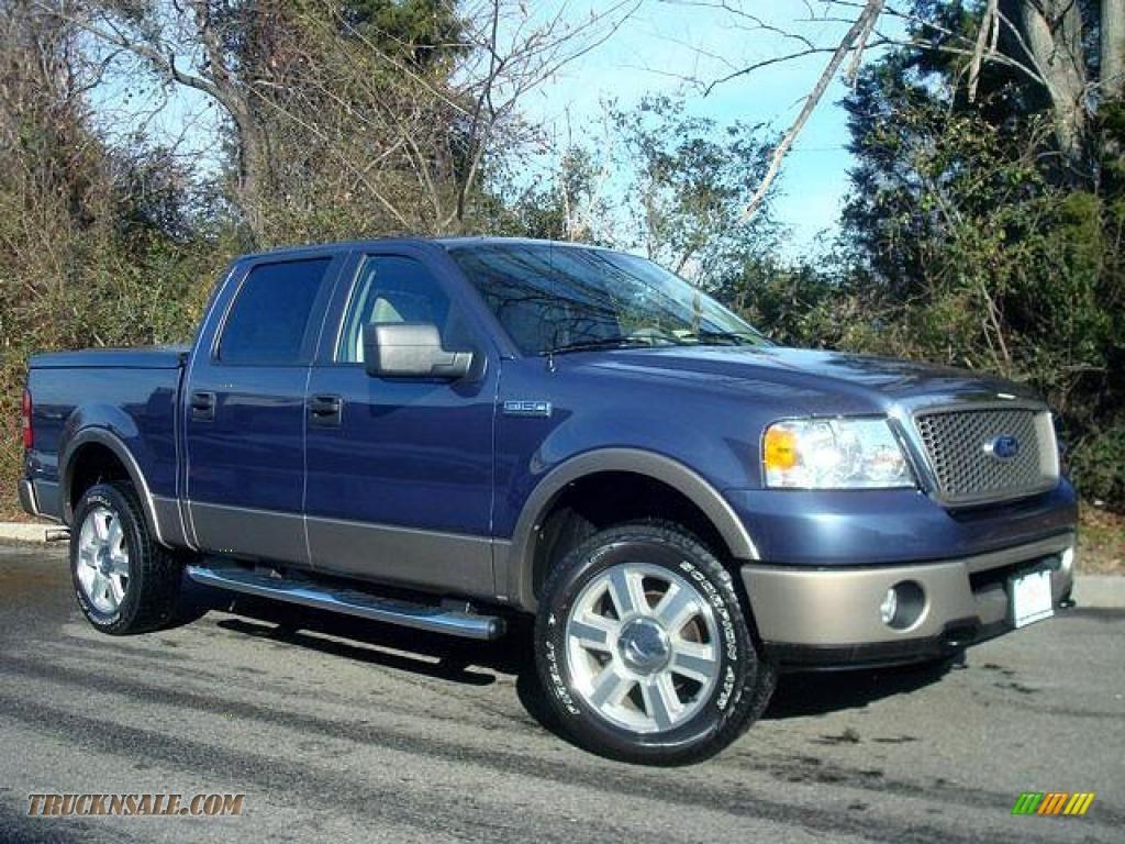2006 ford f150 lariat supercrew 4x4 in medium wedgewood blue metallic b62679 truck n 39 sale
