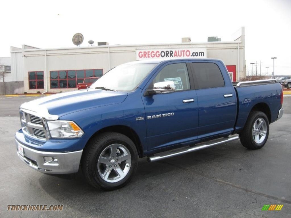 2011 dodge ram 1500 big horn crew cab 4x4 in deep water blue pearl 598105 truck n 39 sale. Black Bedroom Furniture Sets. Home Design Ideas