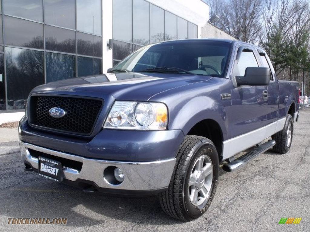 2006 Ford F150 XLT SuperCab 4x4 in Medium Wedgewood Blue Metallic - A19858 | Truck N' Sale