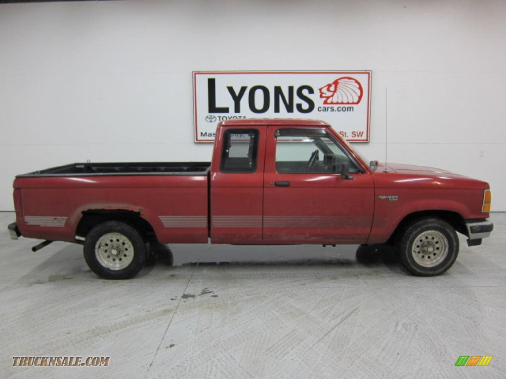 1991 Ford Ranger Xlt Extended Cab In Electric Current Red