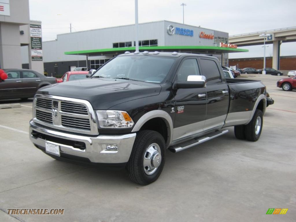 2011 dodge ram 3500 hd laramie crew cab 4x4 dually in brilliant black crystal pearl 560959. Black Bedroom Furniture Sets. Home Design Ideas