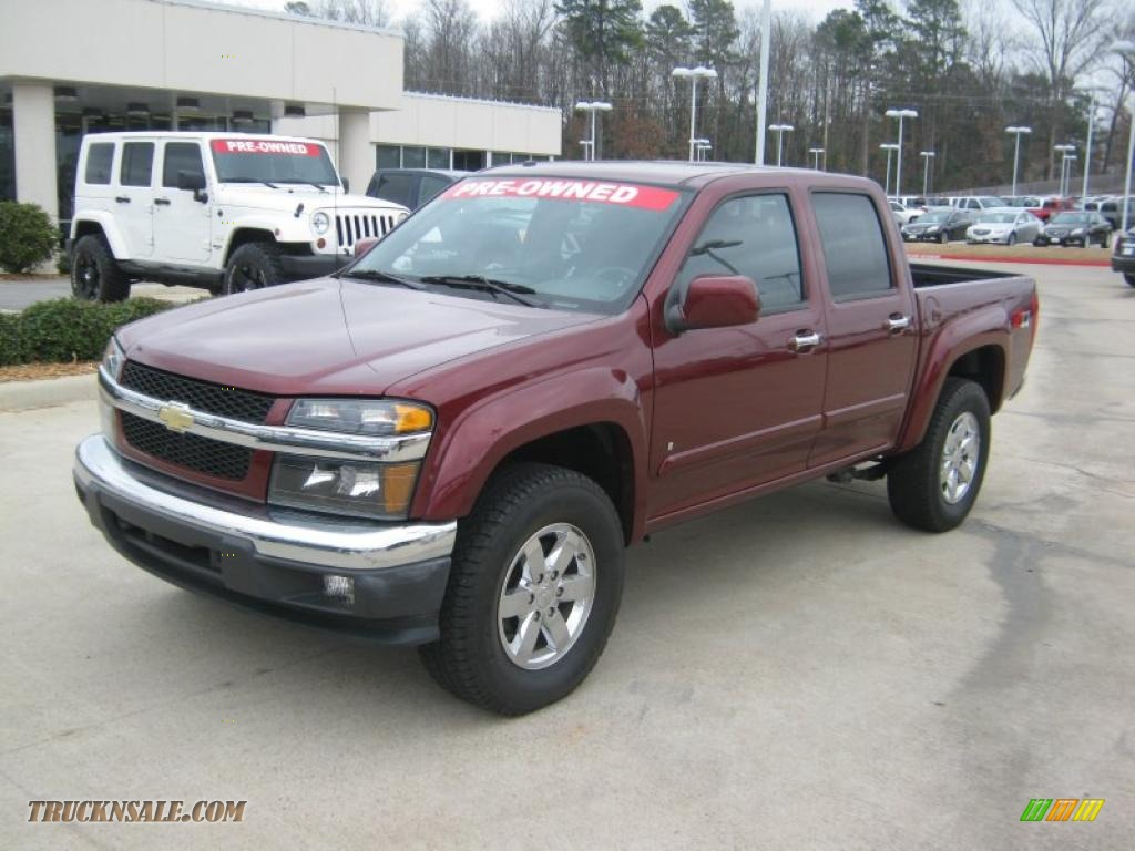 2009 chevrolet colorado z71 crew cab 4x4 in deep ruby red metallic 152615 truck n 39 sale. Black Bedroom Furniture Sets. Home Design Ideas