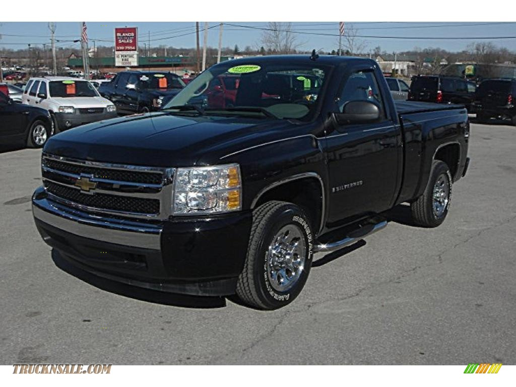 2007 chevrolet silverado 1500 ls regular cab in black 622758 truck. Cars Review. Best American Auto & Cars Review