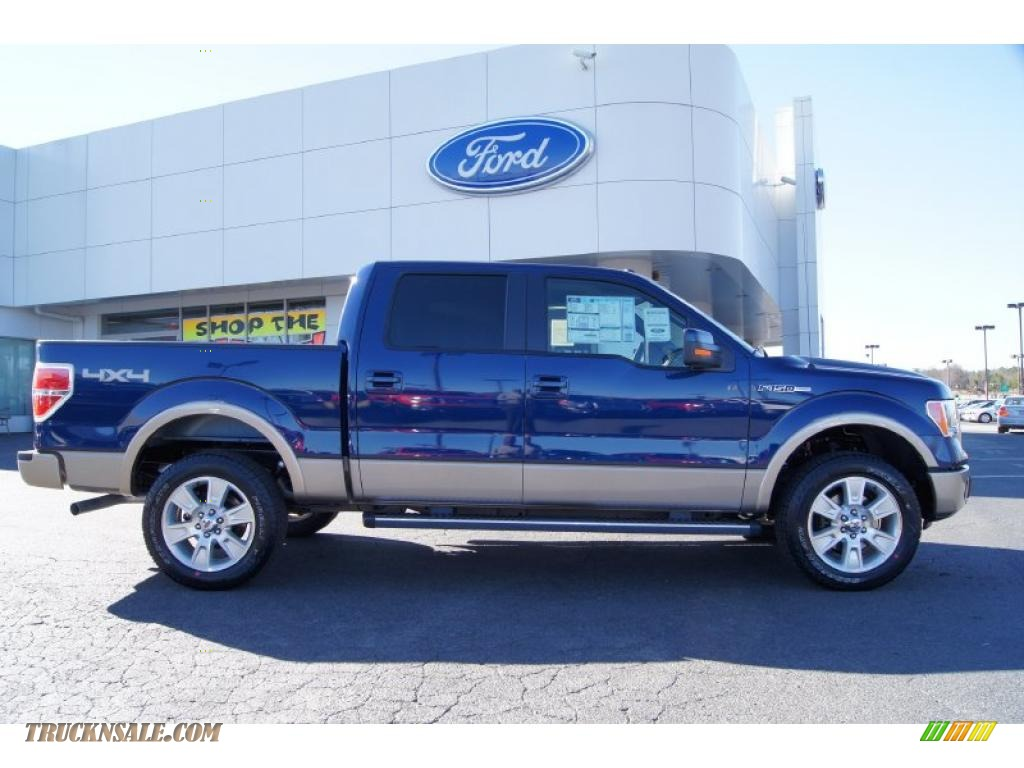 2011 Ford F150 Lariat Supercrew 4x4 In Blue Flame Metallic Photo 2 A68887 Truck N Sale