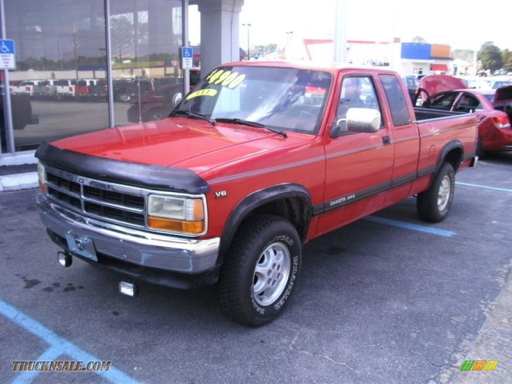 Ron Lewis Dodge >> 1994 Dodge Dakota SLT Extended Cab 4x4 in Poppy Red photo #2 - 714458 | Truck N' Sale