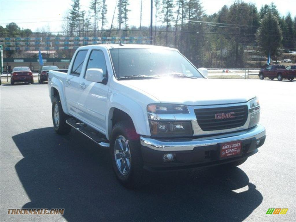 2010 gmc canyon slt crew cab 4x4 in summit white photo  2