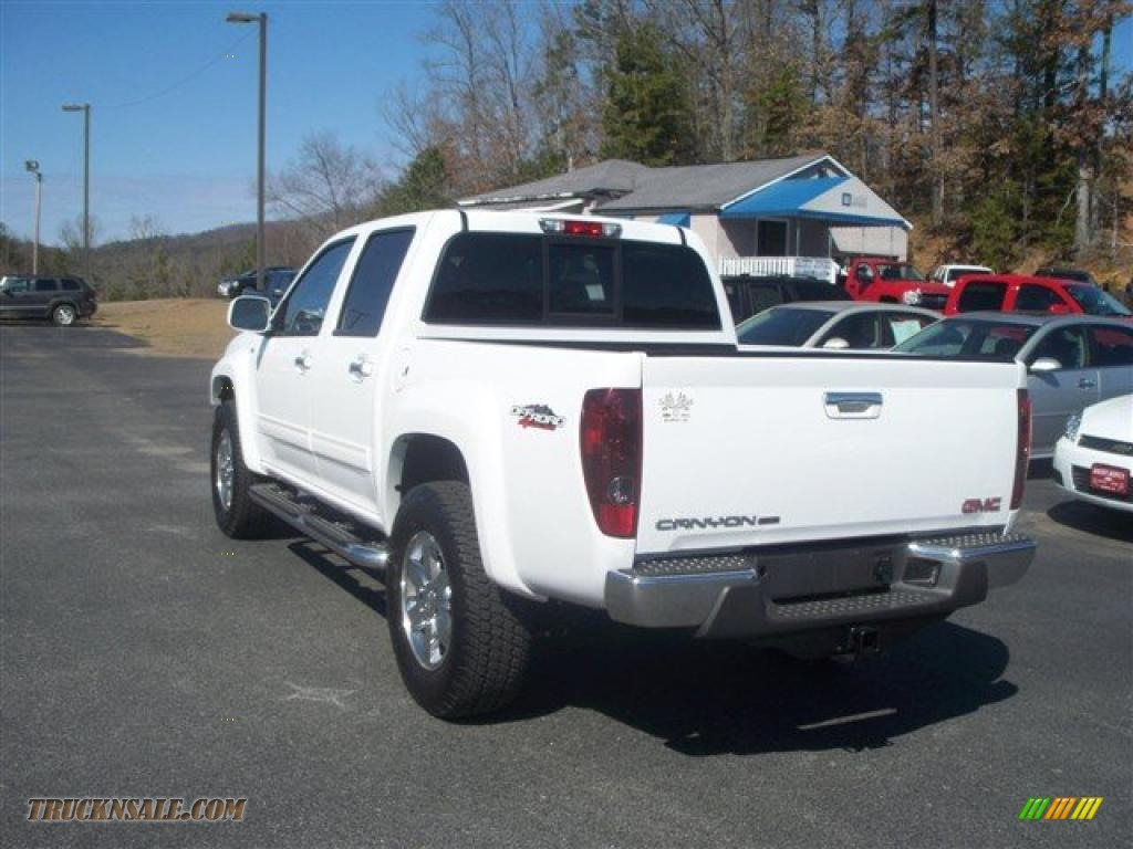 2010 gmc canyon slt crew cab 4x4 in summit white photo  6