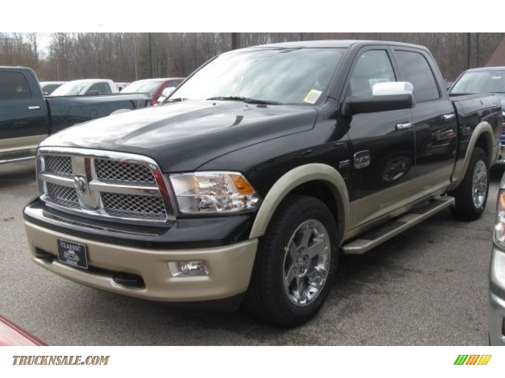 2011 dodge ram 1500 laramie longhorn crew cab 4x4 in brilliant black crystal pearl 602538. Black Bedroom Furniture Sets. Home Design Ideas